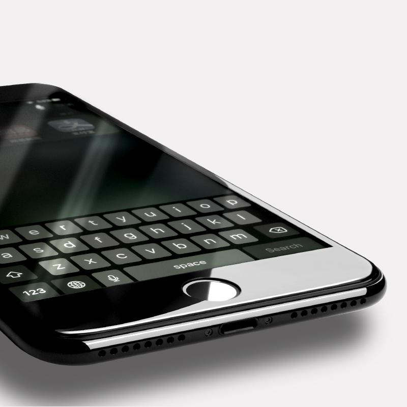 浩酷iPhone7鋼化膜蘋果7Plus全屏覆蓋3D防指紋抗藍光防爆玻璃貼膜