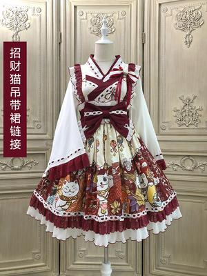 【已截团】Alice girl原创新款 Lolita和风 招财猫 jsk 连衣裙