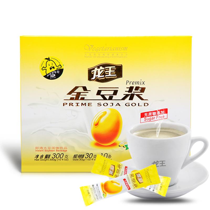 龍王 原味無蔗糖豆漿粉 非轉基因有機純豆粉300g 速溶豆奶衝飲
