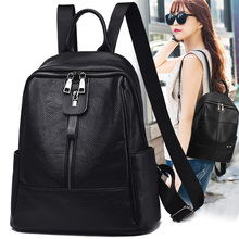 Backpack for women 2019 new Korean version versatile soft leather bag large capacity mother middle aged women travel dual purpose Backpack