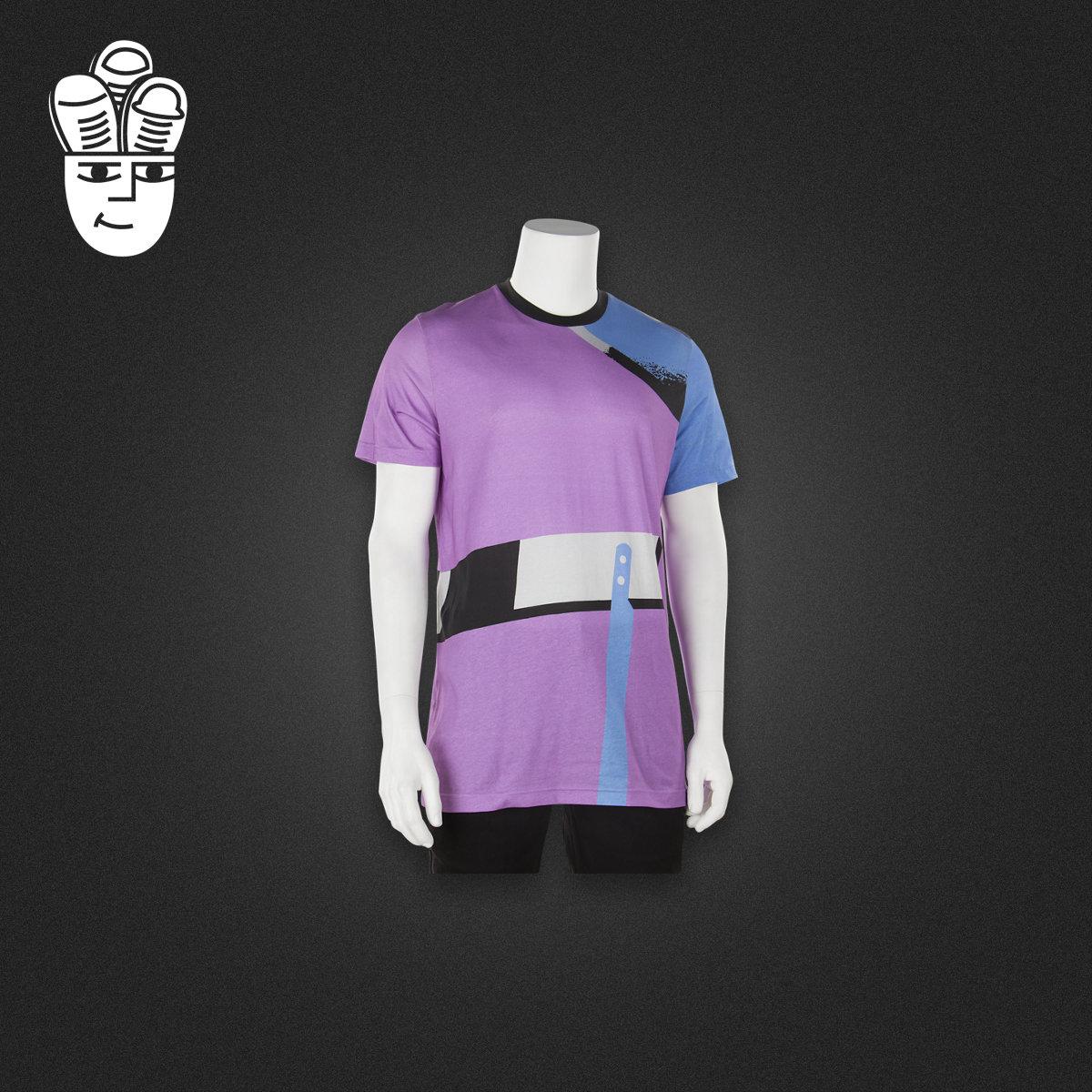 Adidas Archive Catalog 阿迪达斯男子T恤衫 运动休闲拼接短袖