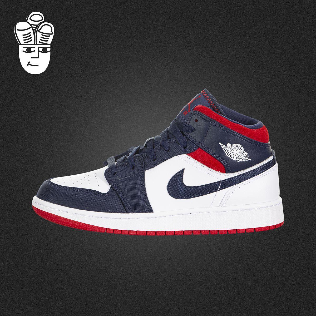 Air Jordan 1 Mid AJ1男鞋女鞋GS 经典复刻篮球鞋 时尚中帮运动鞋图片