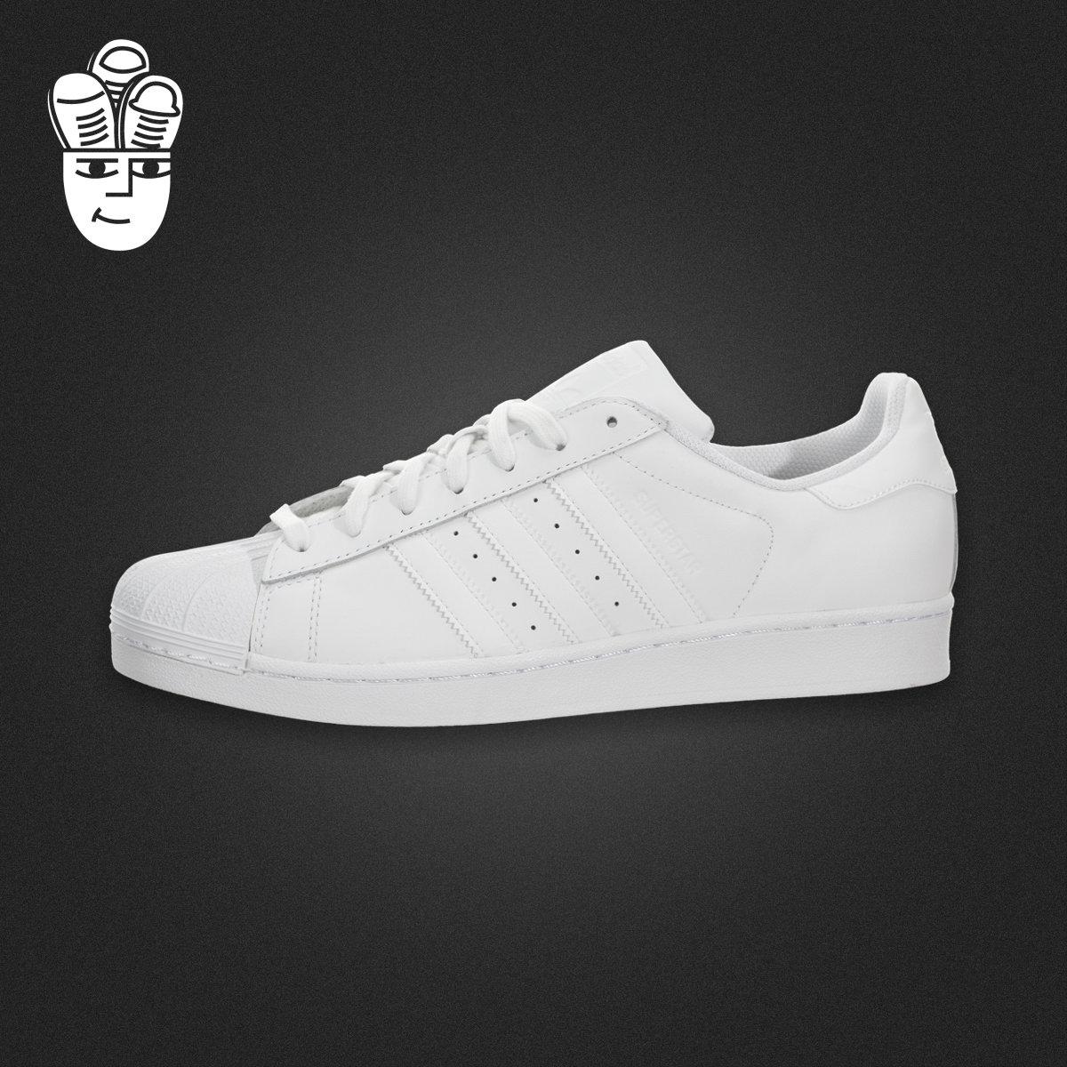 adidas superstar阿迪达斯纯白男鞋