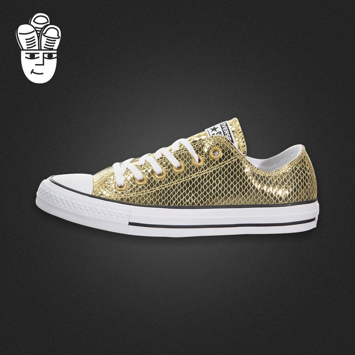 Converse Chuck Taylor All Star 匡威女鞋 金色经典低帮休闲板鞋