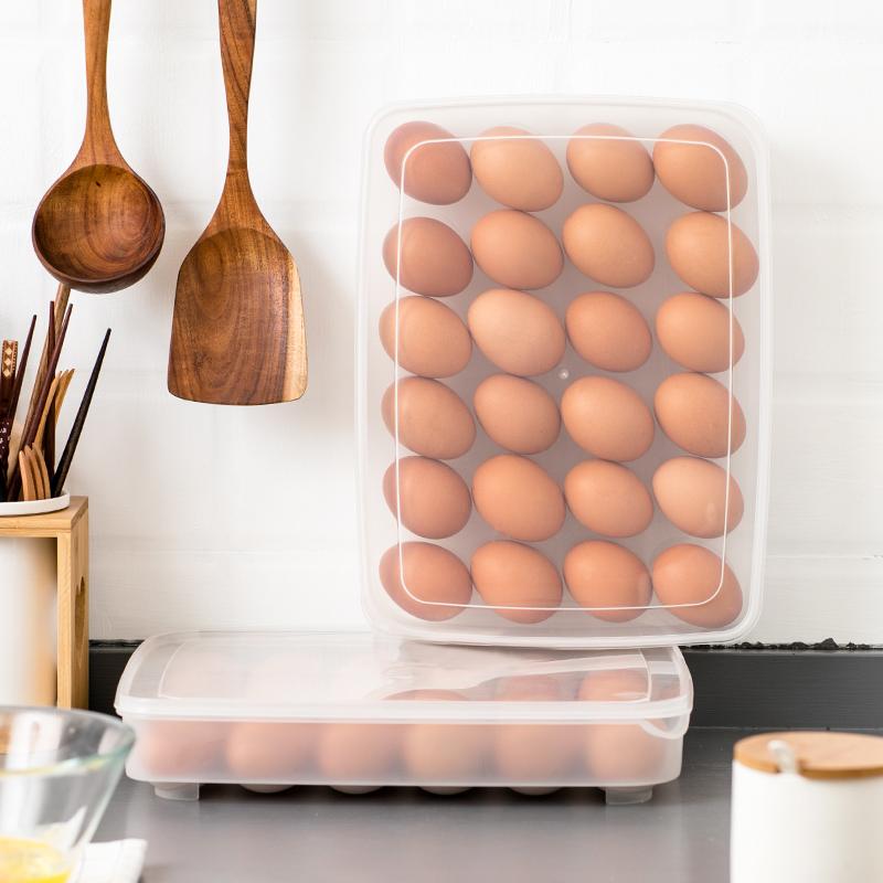 14.80元包邮日本进口放鸡蛋收纳盒冰箱用收纳厨房保鲜盒鸡蛋盒整理盒的塑料盒
