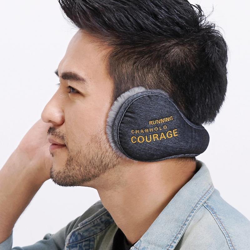 澄湖螺 耳套保暖男耳包冬季耳罩女耳暖字母刺绣护耳朵罩毛绒耳捂