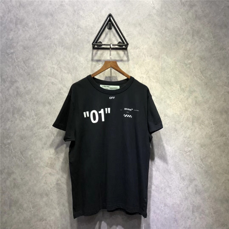 OFF OW WHITE 18SS FOR ALL O1复线基础 TEE 短袖 男女款T恤