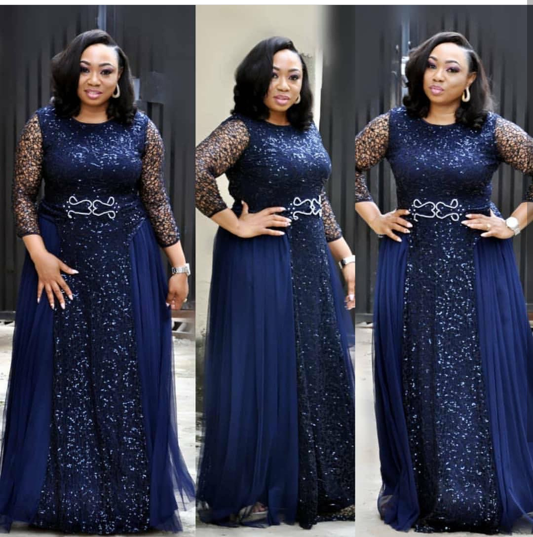 African women's dresses fat woman dresses lace Navy Blue red