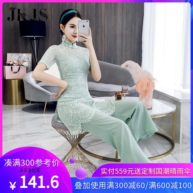 Tang suit suit female Hanfu improved version of modern Chinese retro Chinese style women's summer tights