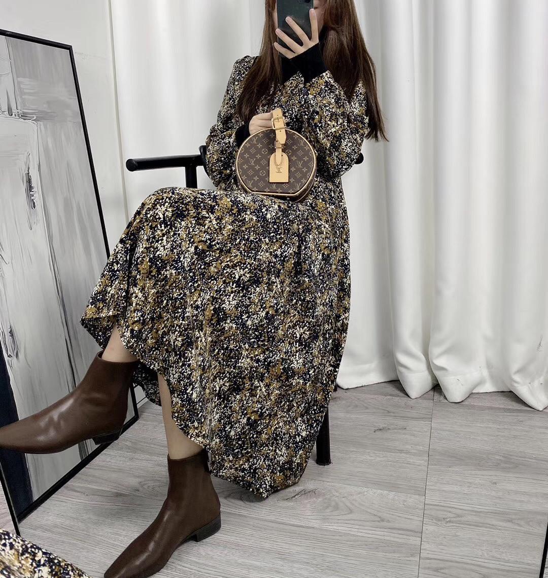 ASM Anna 〕 Monets back garden ~ foreign style fashionable dress childrens winter flower dress