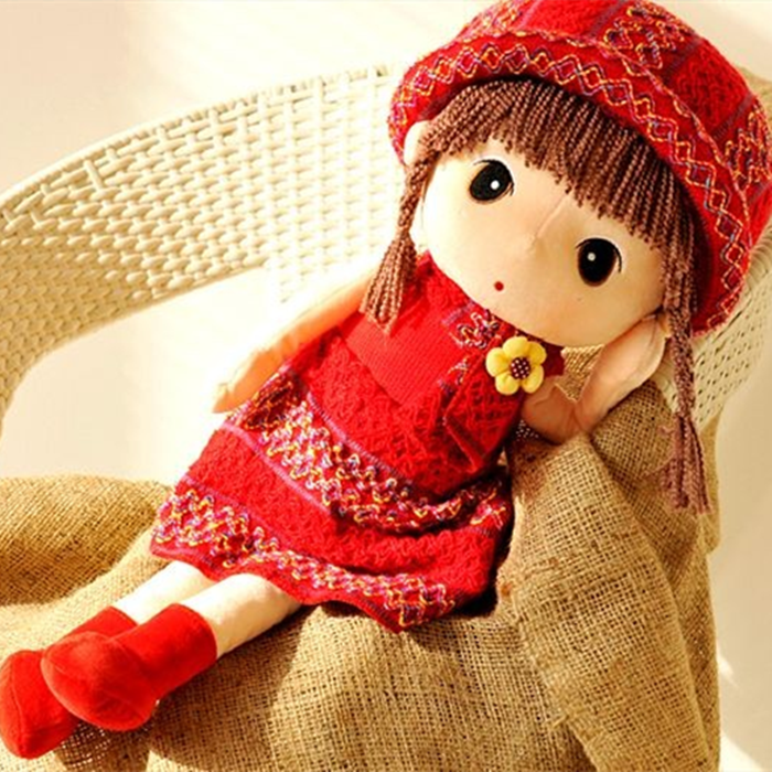 Lovely filly Doll Plush Doll little girl doll pillow birthday New Year present