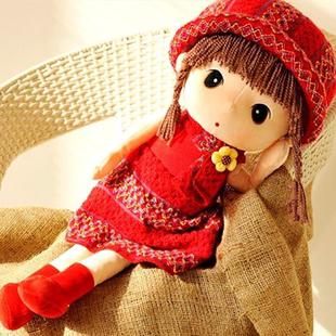 可爱菲儿布娃娃毛绒玩具公仔小女孩玩偶洋娃娃抱枕生日儿童节礼物