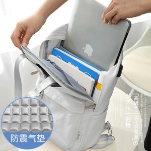 电脑包女双肩笔记本适用于苹果戴尔惠普荣耀macbookpro14寸13.3寸air15.6寸小清新时尚手提好看的背包
