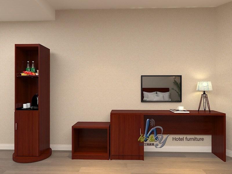 酒店家具宾馆客房促销书桌电视柜行李柜宾馆标间单间促销成套
