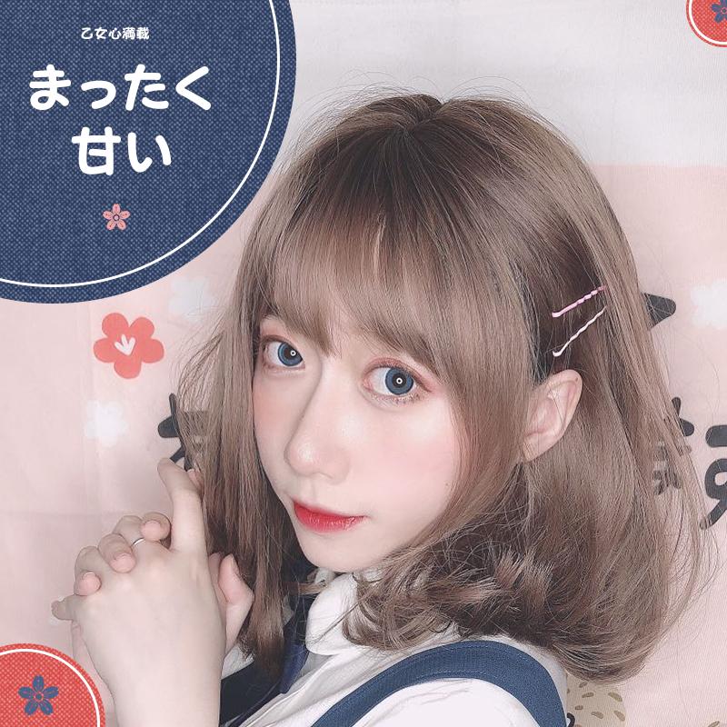 假发女短发短卷发蓬松气质韩式发型日系少女lo长发锁骨发全头套式图片