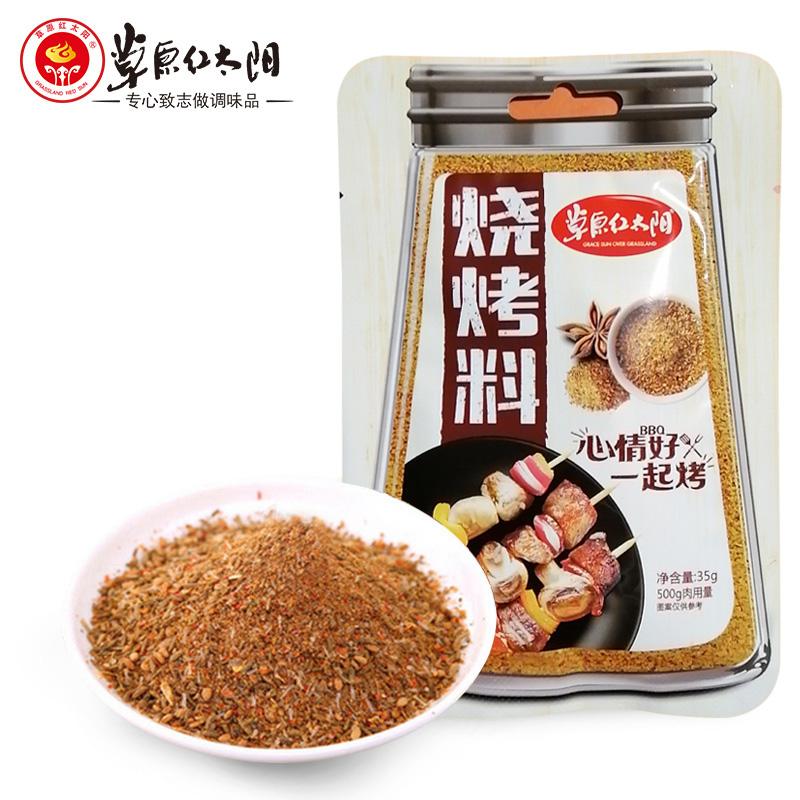 10袋包邮 草原红太阳烧烤料香辛料35g烧烤撒料烧烤料蘸料腌料干料