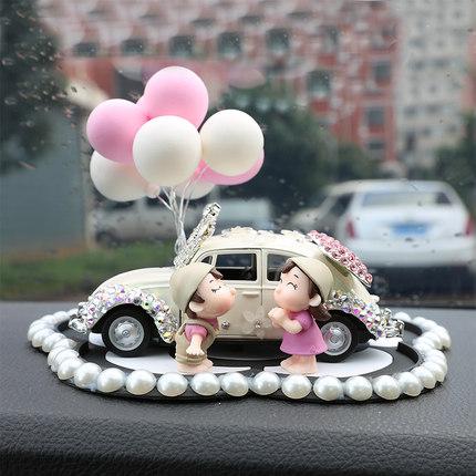 创意个性漂亮内饰女汽车装饰车内饰品摆件车饰可爱用品车载香水