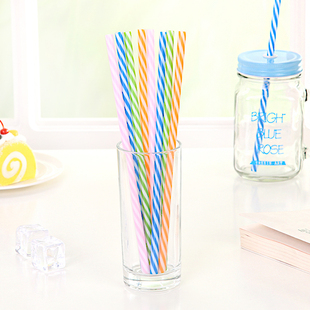 Creative color art disposable plastic juice drinks tea straw cup mineral water Mason
