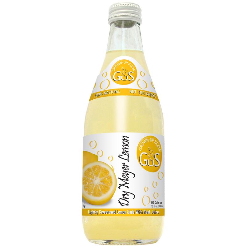 ~天貓超市~美國 GuS 格斯碳酸飲料檸檬濃縮汁蘇打水360ml 瓶