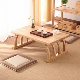 草艺居飘窗桌日式榻榻米茶几实木阳台小茶桌迷你禅意地台炕桌矮桌