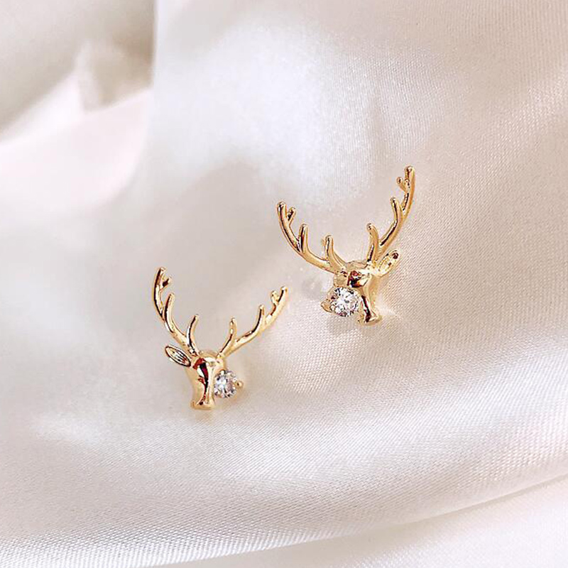 Talove Tanabata personalized Earrings 2020 new lovely deer gold plated clear light luxury fashion earrings