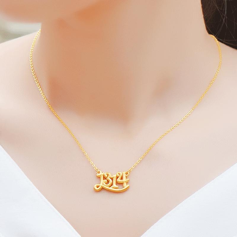 纯黄金项链999足金