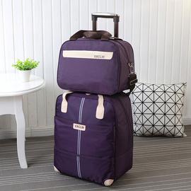 拉杆包旅行包女行李袋轻便手提大容量男短途带拉杆待产包登机包邮