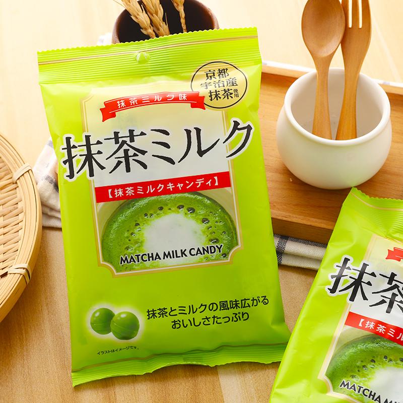 Snacks imported from Japan: Akiyama koji Matcha, milk flavored sugar, lactose, hard candy, leisure snack 80g
