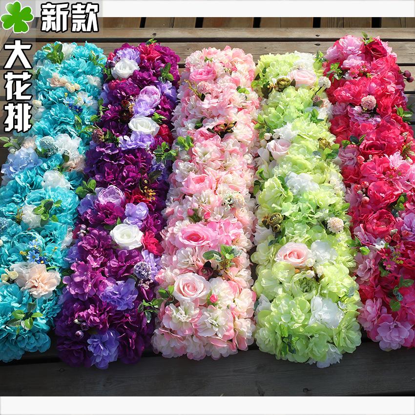 Новый свадьба реквизит цветок строка T тайвань роз весло привел цветок моделирование ложный цветок шелк цветок свадьба ткань положить статьи