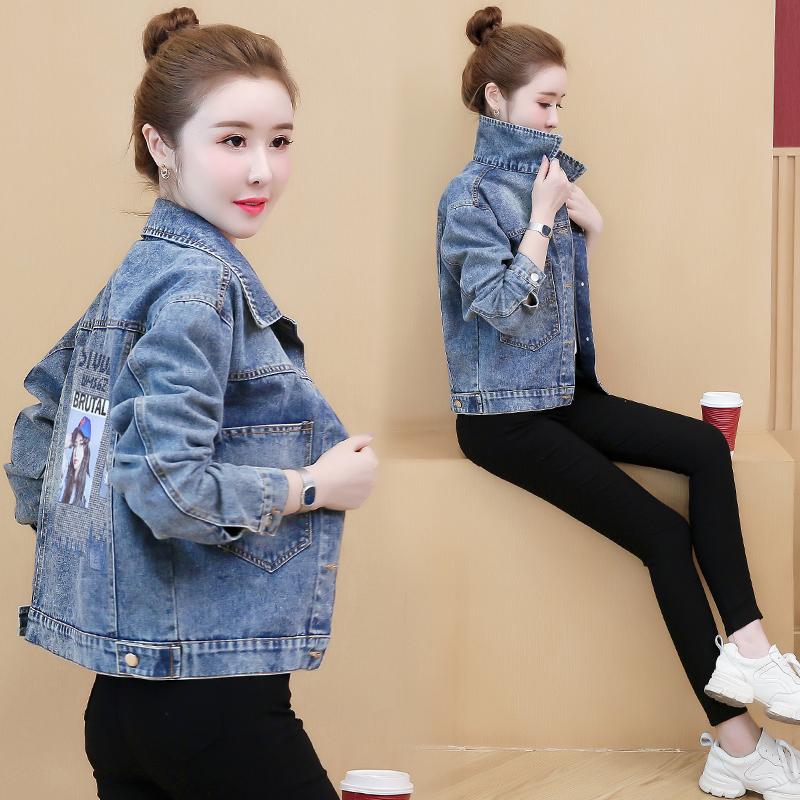 2020年新爆款加厚韩版初春秋冬季休闲宽松牛仔短外套女士百搭上衣图片