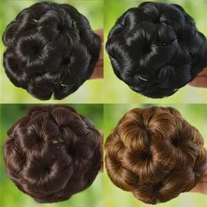 艾丝假发女九朵花盘发器丸子头抓夹花苞头发圈假发包头花盘头发饰