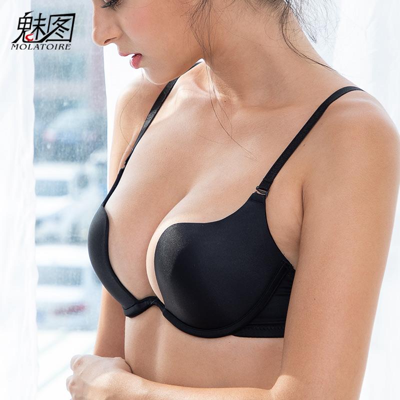 隐形美背露背女性感无痕u型文胸