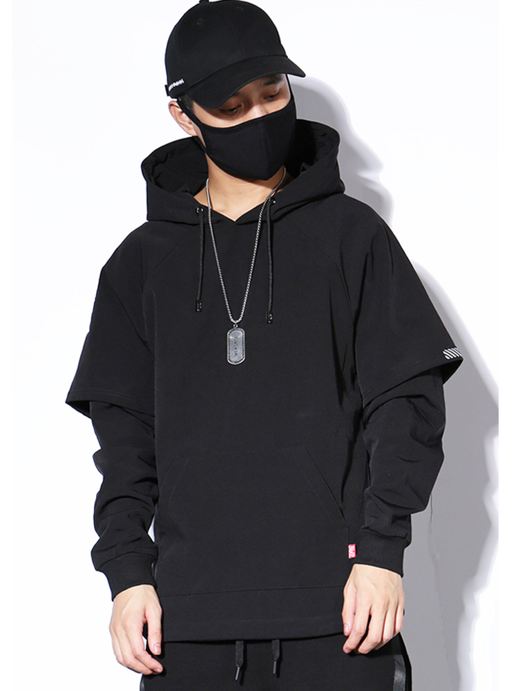 Mens trendy sweater hooded new long sleeve design in spring