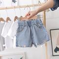 女童牛仔短裤外穿夏季薄款儿童裤子婴儿热裤宝宝纯棉牛仔裤小雏菊
