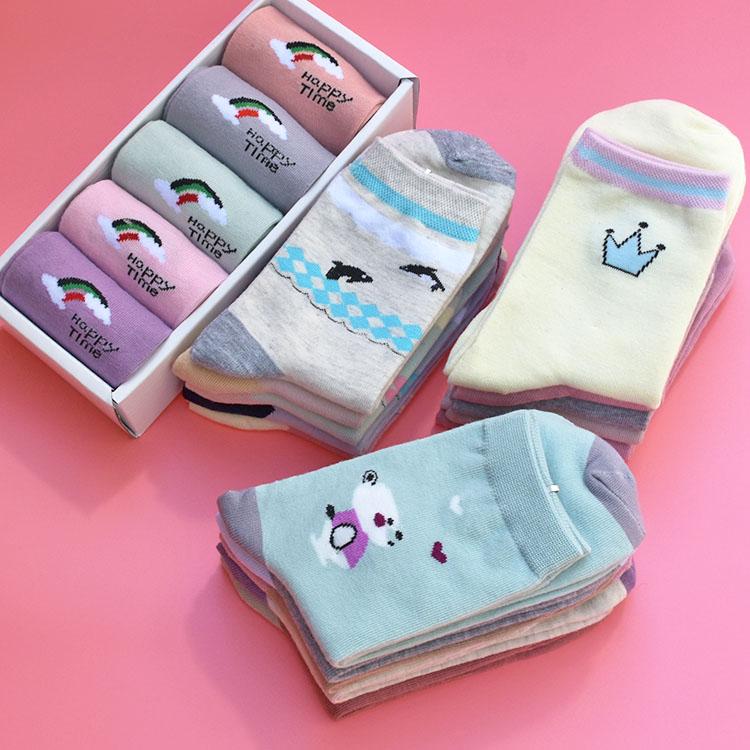 限时2件3折【买10送5】袜子女中筒袜秋冬款可爱成人棉袜女妹女装女土中长袜