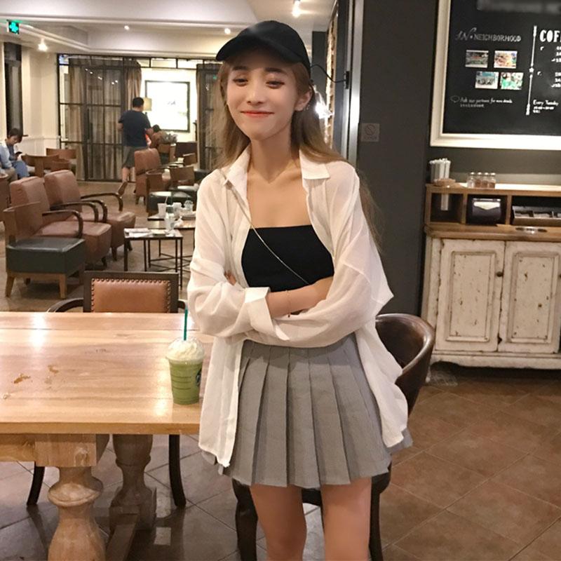 百褶裙套装女学生夏学院风韩版少女可爱套装裙甜美俏皮活泼原宿风
