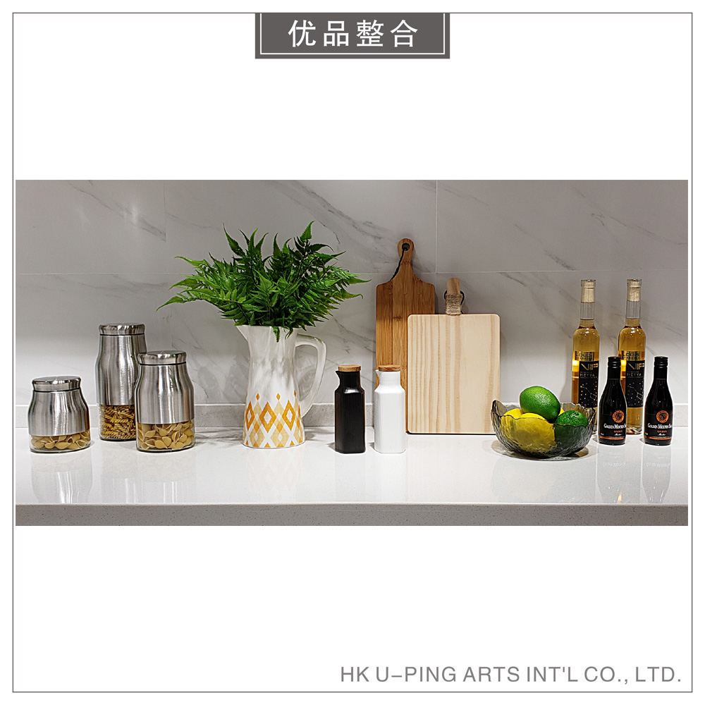 Simple soft decoration model room creative home furnishings European kitchen supplies simulation flower road wine combination zh1819