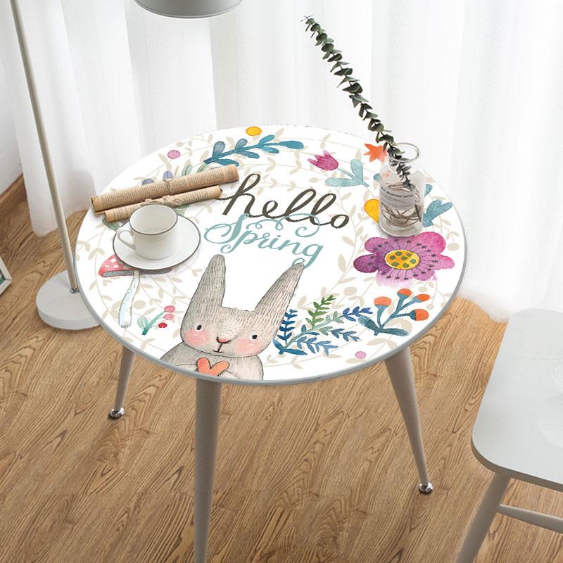 圆形桌布防水防油PVC免洗防滑防烫餐桌布家用小圆桌茶几垫软玻璃限5000张券