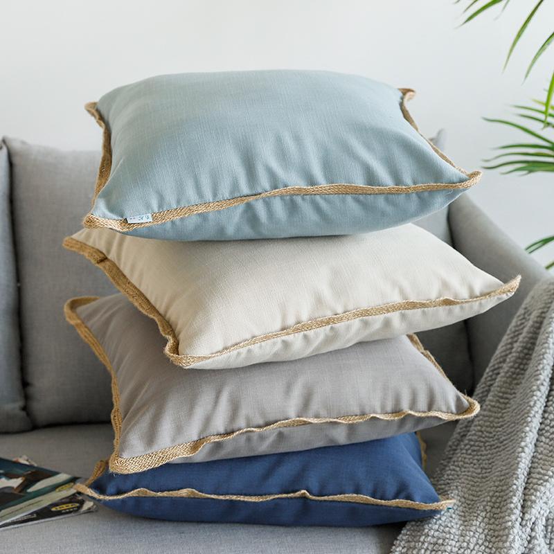 美式乡村沙发抱枕套子可拆洗靠枕芯55.00元包邮