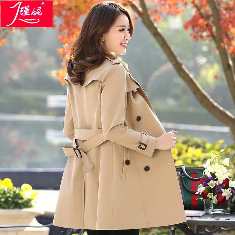 风衣女中长款韩版春季2020春秋新款修身显瘦气质端庄收腰女士外套