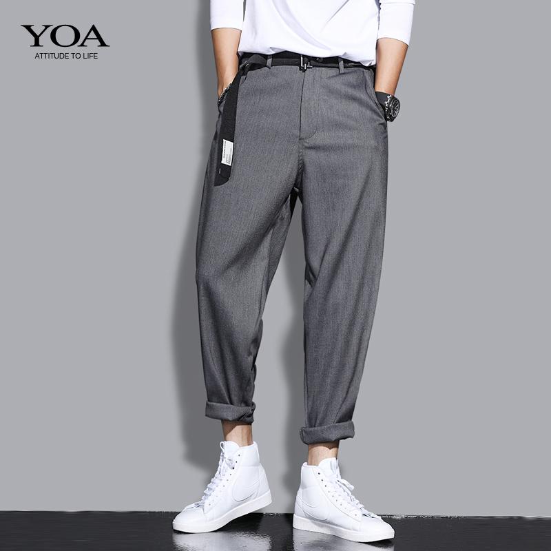 yoa春季男潮牌宽松工装西裤休闲裤使用评测