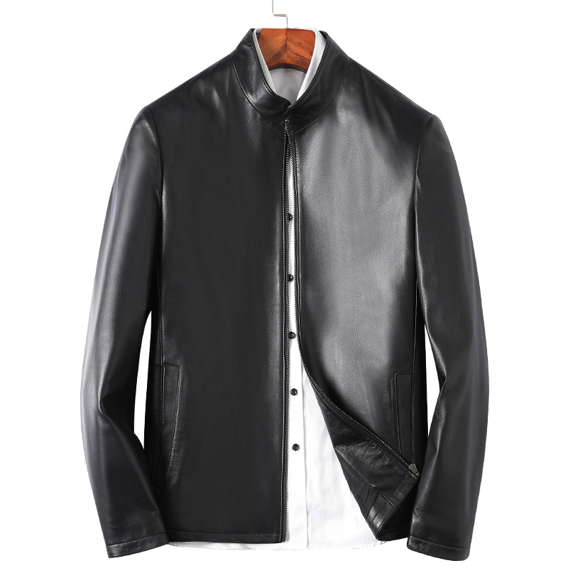 Sequoia Dragon clearance leather leather Haining leather leather men's leather jacket short slim casual jacket