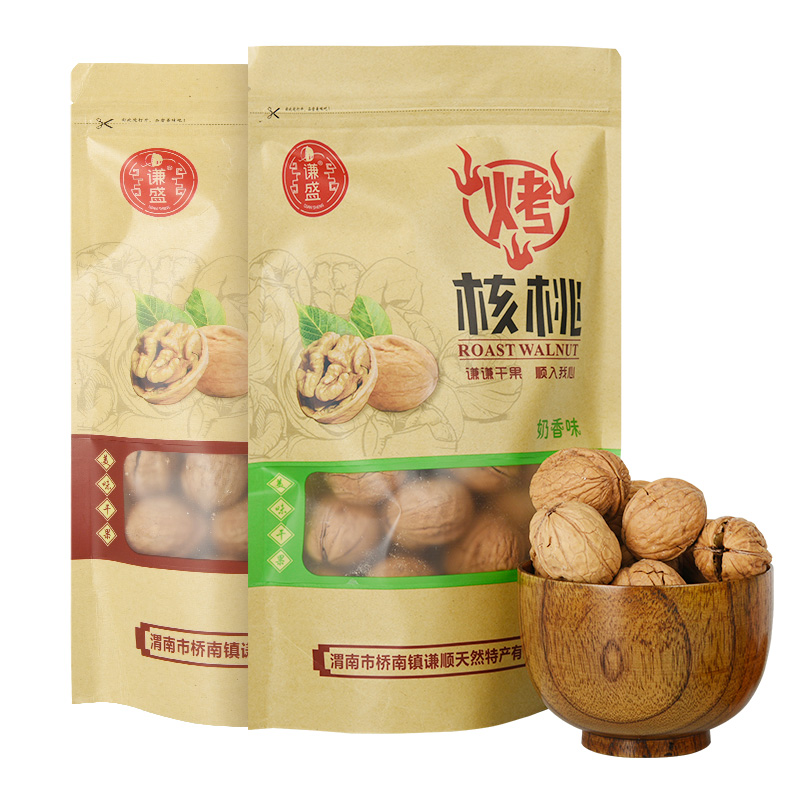 Roasted walnut 750g whole box Shaanxi specialty leisure nut pregnant woman snack Qinling hand peeled thin skinned walnut
