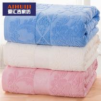 老式毛巾被纯棉毯子单人双人全棉毛毯夏季薄款被夏凉被毛巾毯床单