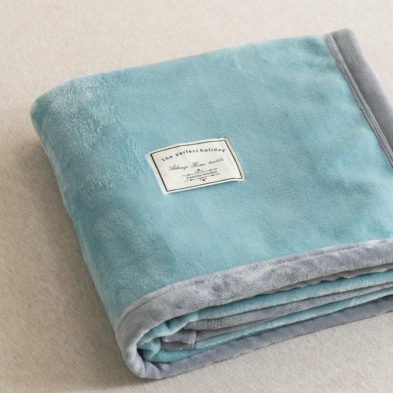 冬季毛毯女午睡小毯子加厚保暖珊瑚绒法兰绒学生宿舍毛绒床单被子