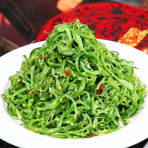 速冻裙带菜 海草 海藻沙拉 日式凉菜 日本料理冷盘 开袋即食