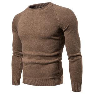 秋冬肌肉男健身毛衣兄弟套头圆领运动休闲长袖锻炼保暖针织打底衫