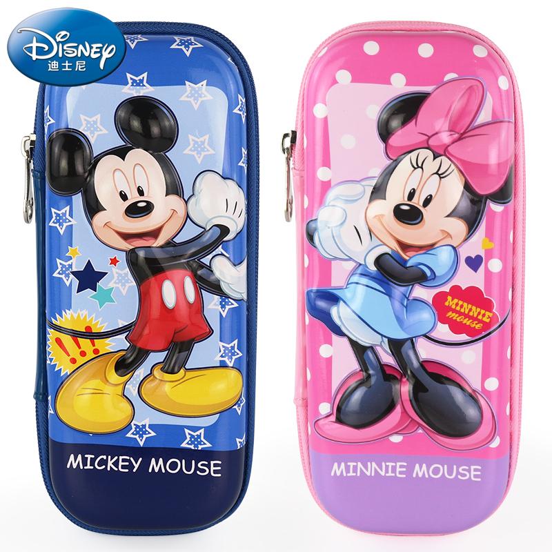 迪士尼小学生笔袋男童女童可爱卡通文具盒儿童大容量铅笔盒多功能