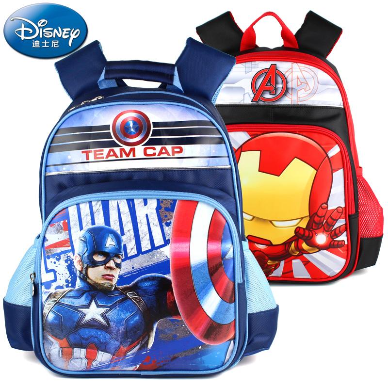 迪士尼美國隊長小學生書包男生1~2~3~5年級男童背包兒童雙肩包潮