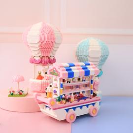 创意diy糖果车节生日礼物贩卖机模型兼容乐高小颗粒拼装积木微型图片